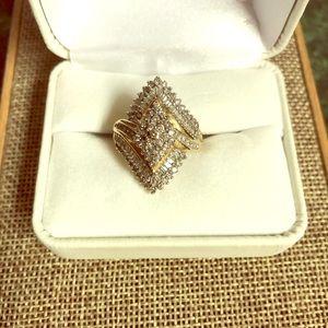 Diamond Cocktail Ring...10k...size 7